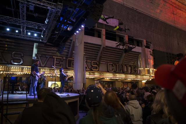 Craig Campbell performs during the 30th Annual Downtown Hoedown at the Fremont Street Experience on Wednesday, Nov. 30, 2016, in Las Vegas. Erik Verduzco/Las Vegas Review-Journal Follow @Erik_Verduzco