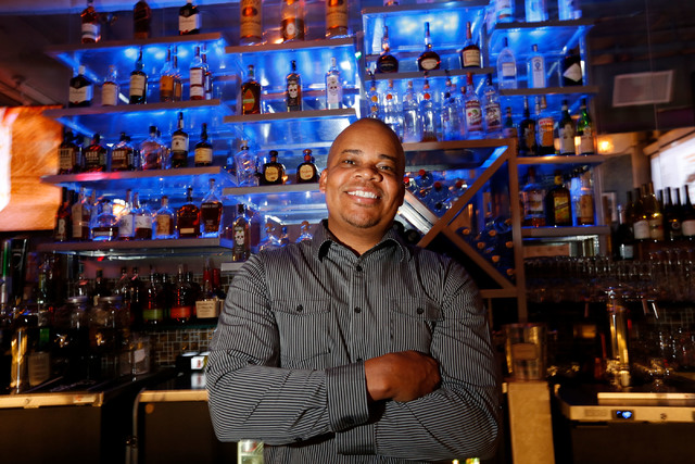 Classic Jewel co-owner Jerome Harry poses for a photo in his bar at The Juhl in downtown Las Vegas, Monday, Nov. 28, 2016. Chitose Suzuki/Las Vegas Review-Journal