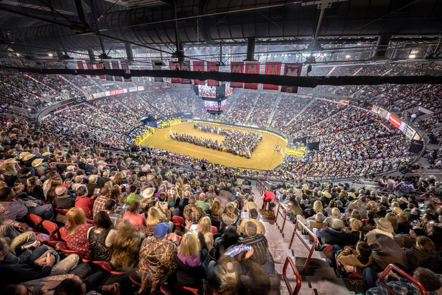 The house is packed for the Wrangler National Finals Rodeo last year at the Thomas & Mack Center. The event has sold out its 10-day run of riding and roping for 30 years now. That's 300 stra ...