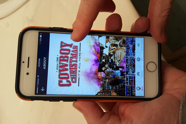 The mobile phone application for the WNFR is available as a free download for iPhone and Android devices. (Patrick Everson/Special to the Las Vegas Review-Journal)