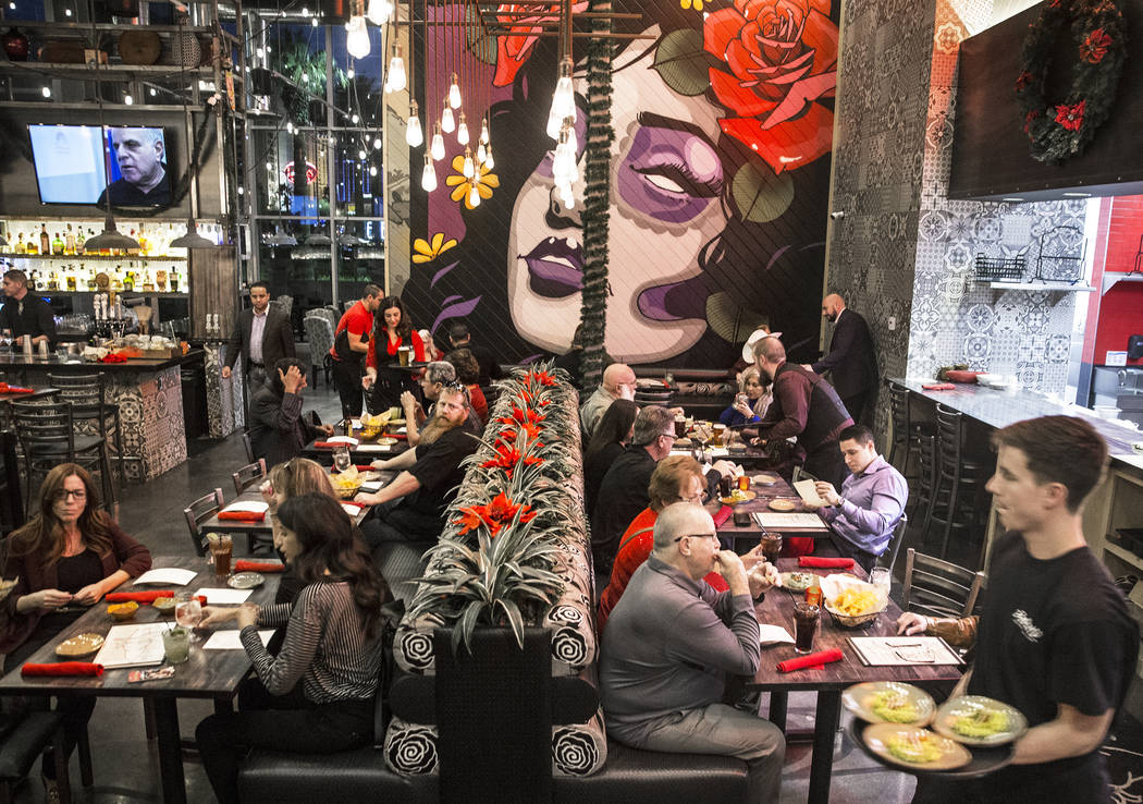 Guests are served in the dinning room at Bandito Latin Kitchen & Cantina on Saturday, Dec. 2, 2017, in Las Vegas. Benjamin Hager Las Vegas Review-Journal @benjaminhphoto