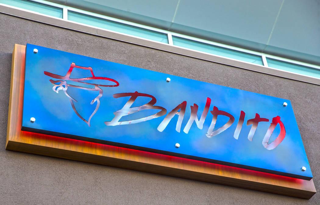Signage at Bandito Latin Kitchen & Cantina on Saturday, Dec. 2, 2017, in Las Vegas. Benjamin Hager Las Vegas Review-Journal @benjaminhphoto