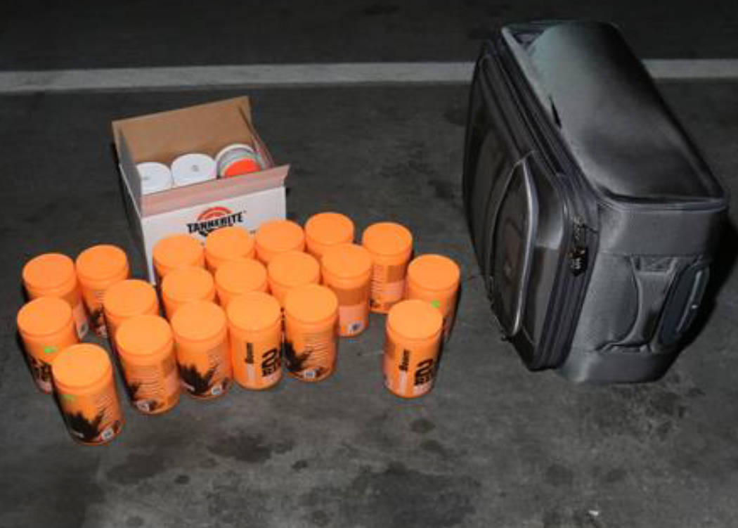 Exploding targets found in Stephen Paddock's vehicle. Las Vegas Metropolitan Police Department