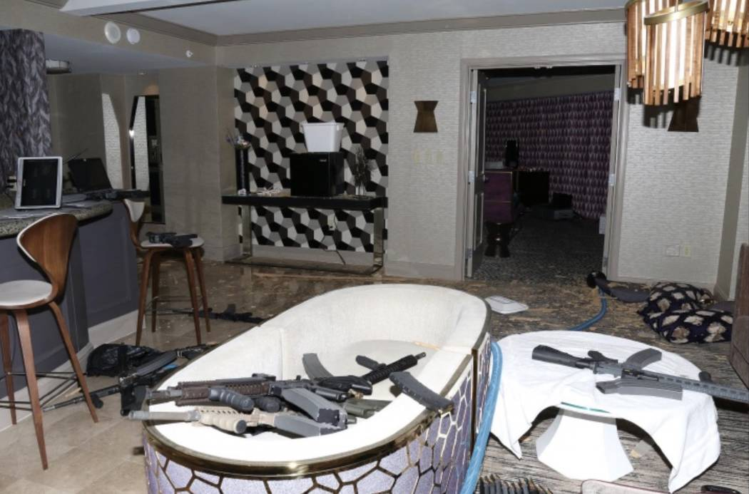 View from the sitting area towards the master bedroom. LVMPD.