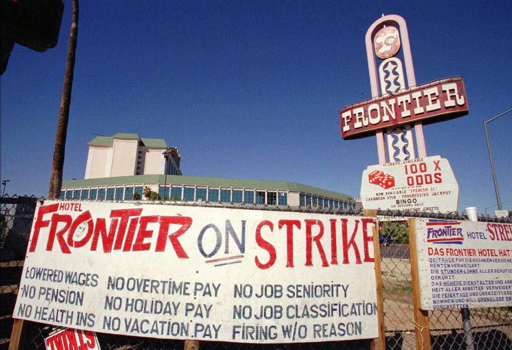 The Frontier Hotel and Casino located on the famed Las Vegas Strip was sold to Phil Ruffin, owner of Ruffin Company in Wichita, Kans., which means an end to the six years strike at the hotel is no ...