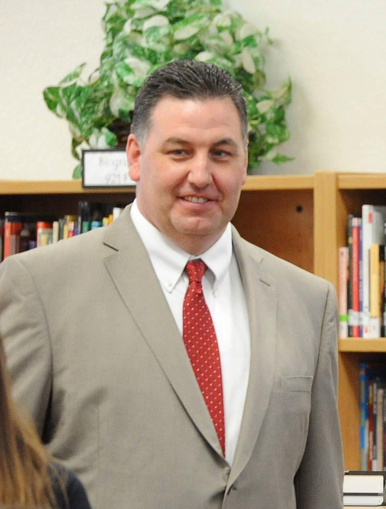 This  Sept. 12, 2014, file photo shows Joe Petrie at Wilbur & Theresa Faiss Middle School in Las Vegas. Jerry Henkel Las Vegas Review-Journal