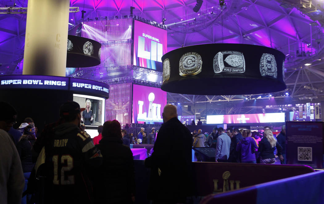 Fans explore the NFL Experience at the Minneapolis Convention Center in Minneapolis, Minn., Friday, Feb. 2, 2018. Heidi Fang Las Vegas Review-Journal @HeidiFang