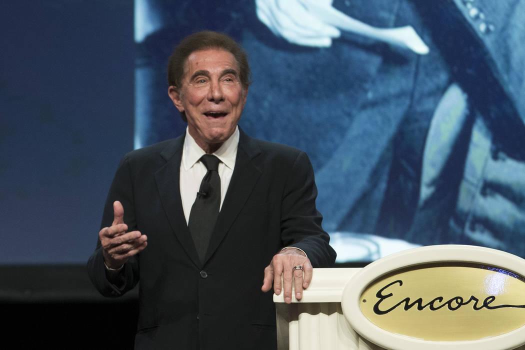 Steve Wynn, CEO of Wynn Resorts, speaks during an event at the Wynn hotel-casino in 2016 in Las Vegas. (Erik Verduzco/Las Vegas Review-Journal)