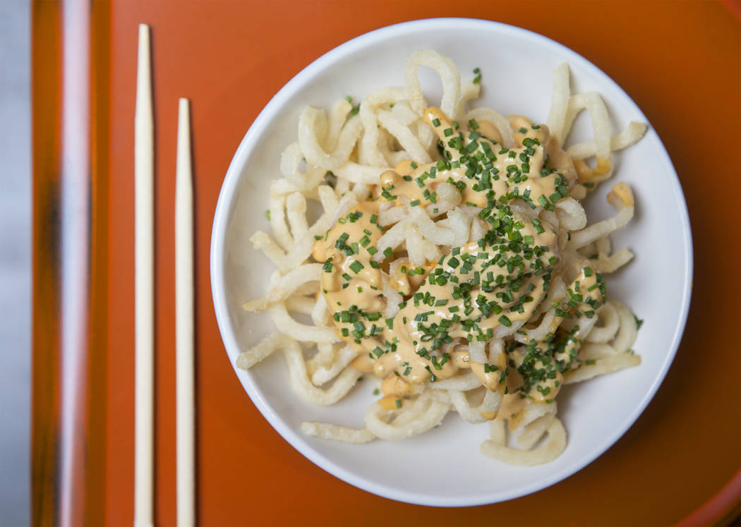 Udon fries animal style at Paid in Full on Friday, February 9, 2018, in Las Vegas. Benjamin Hager Las Vegas Review-Journal @benjaminhphoto