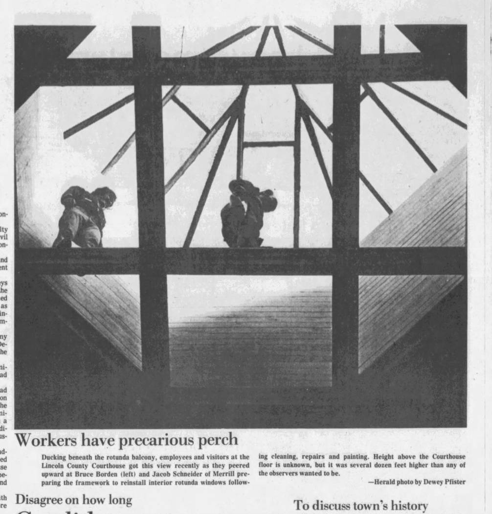This 1980 article from the Wausau Daily Herald, of Wisconsin, includes a photo of Bruce Borden, left, at work. Borden is the father of Switch CEO Rob Roy. (Dewey Pfister/Wausau Daily Herald)