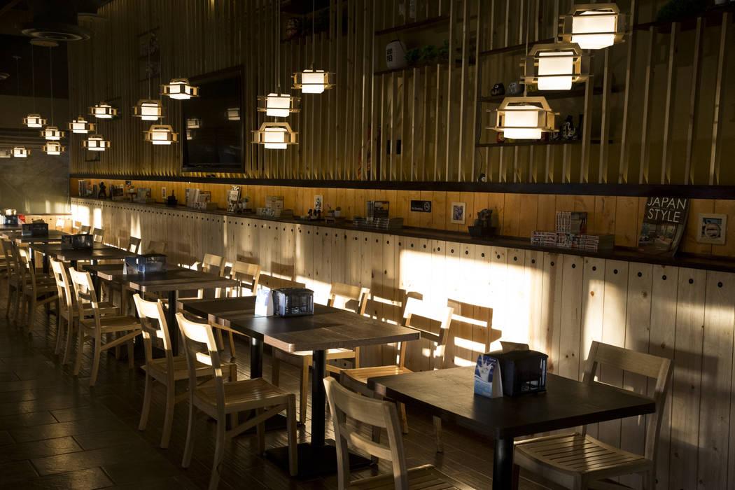 The interior of Cafe Sanuki in Las Vegas, Thursday, March 8, 2018. Erik Verduzco Las Vegas Review-Journal @Erik_Verduzco