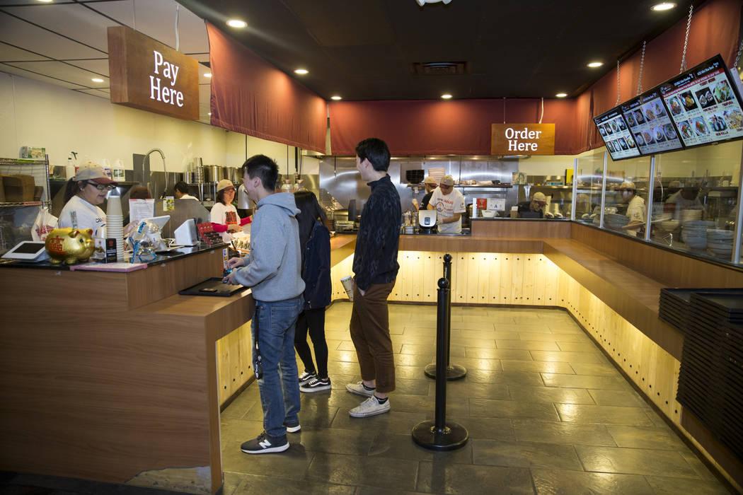 Cafe Sanuki in Las Vegas, Thursday, March 8, 2018. Erik Verduzco Las Vegas Review-Journal @Erik_Verduzco