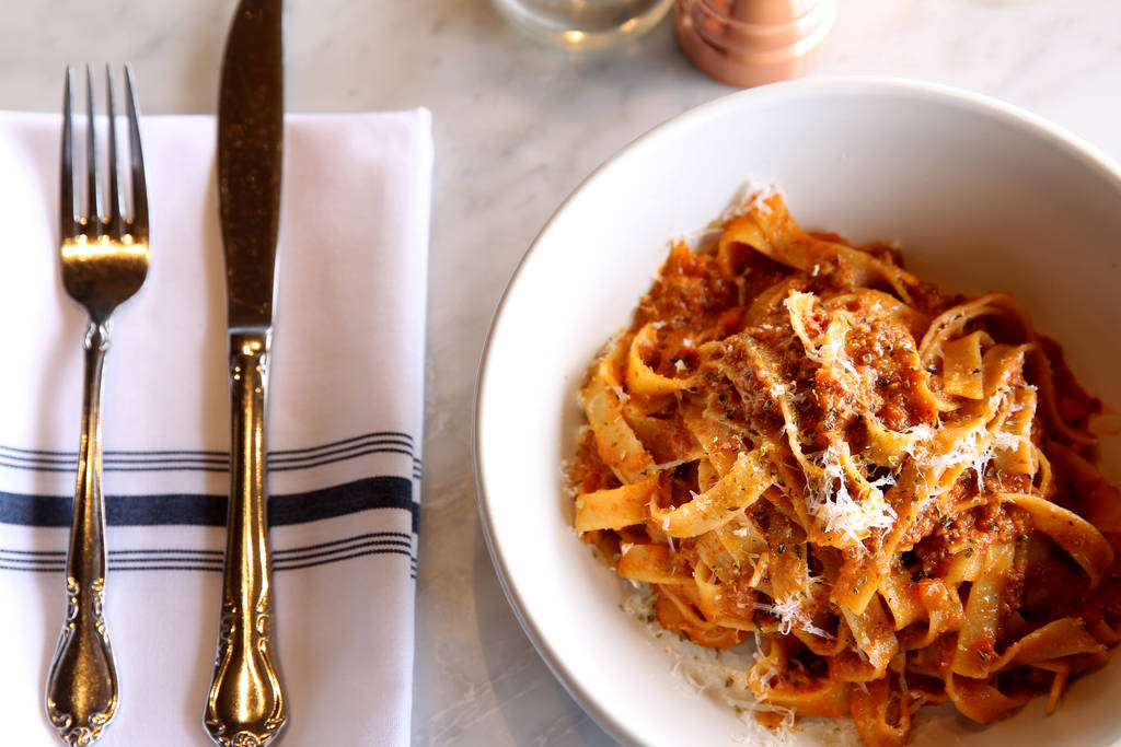 The Bolognese at North Italia in Summerlin Monday, April 2, 2018. K.M. Cannon Las Vegas Review-Journal @KMCannonPhoto