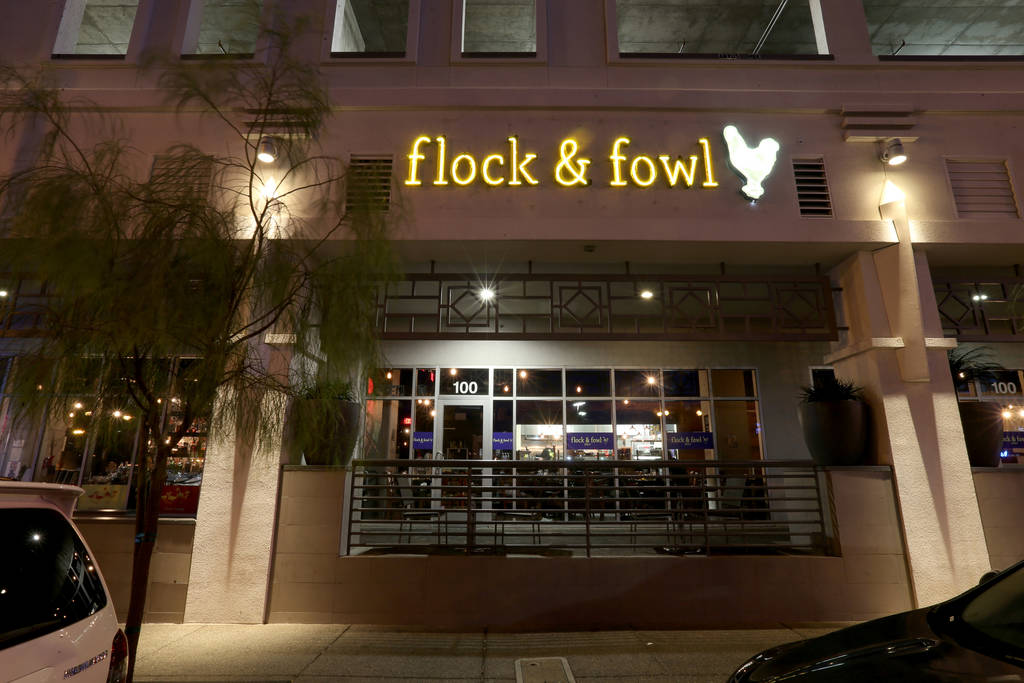 Flock & Fowl DTLV located inside The Ogden at Ogden Avenue and Las Vegas Boulevard in downtown Las Vegas Saturday, May 26, 2018. K.M. Cannon Las Vegas Review-Journal @KMCannonPhoto