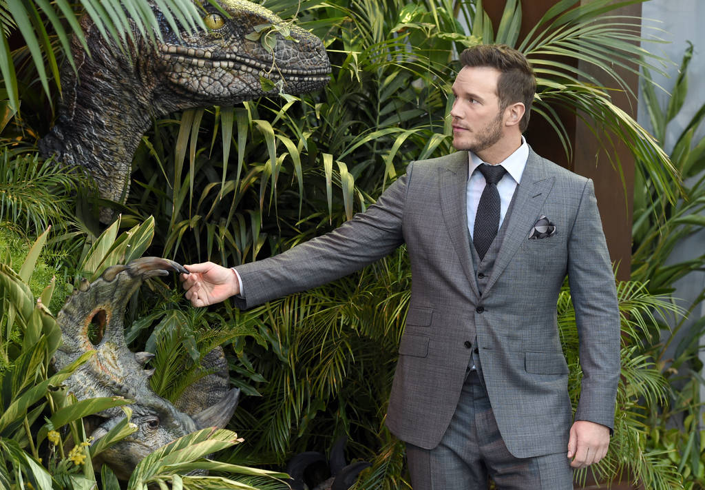 """Chris Pratt arrives at the Los Angeles premiere of """"Jurassic World: Fallen Kingdom"""" at the Walt Disney Concert Hall on Tuesday, June 12, 2018. (Photo by Chris Pizzello/Invision/AP)"""