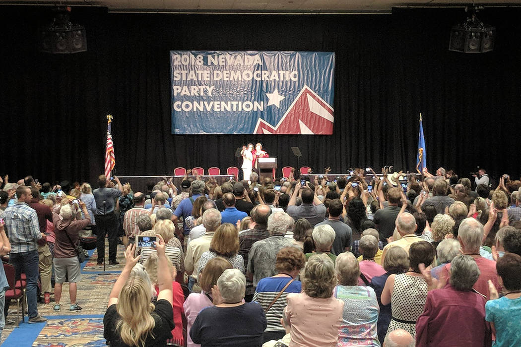 Massachusetts Sen. Elizabeth Warren, considered to be one of the top potential Democratic president candidates for 2020, was in Reno to give the keynote speech at the Democratic State Party Conven ...