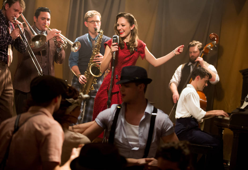 """Laura Osnes is shown in a promotional shot for the Broadway musical """"Bandstand,"""" co-written by Las Vegas composers Richard Oberacker and Robert Taylor. (Jeremy Daniel)"""