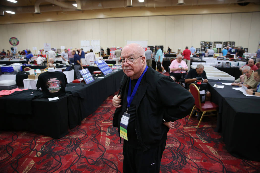 Past convention chair Sheldon Smith in attendance during the Casino Chip & Gaming Token Collectors Club annual convention at the South Point casino-hotel in Las Vegas, Friday, June 22, 2018. E ...