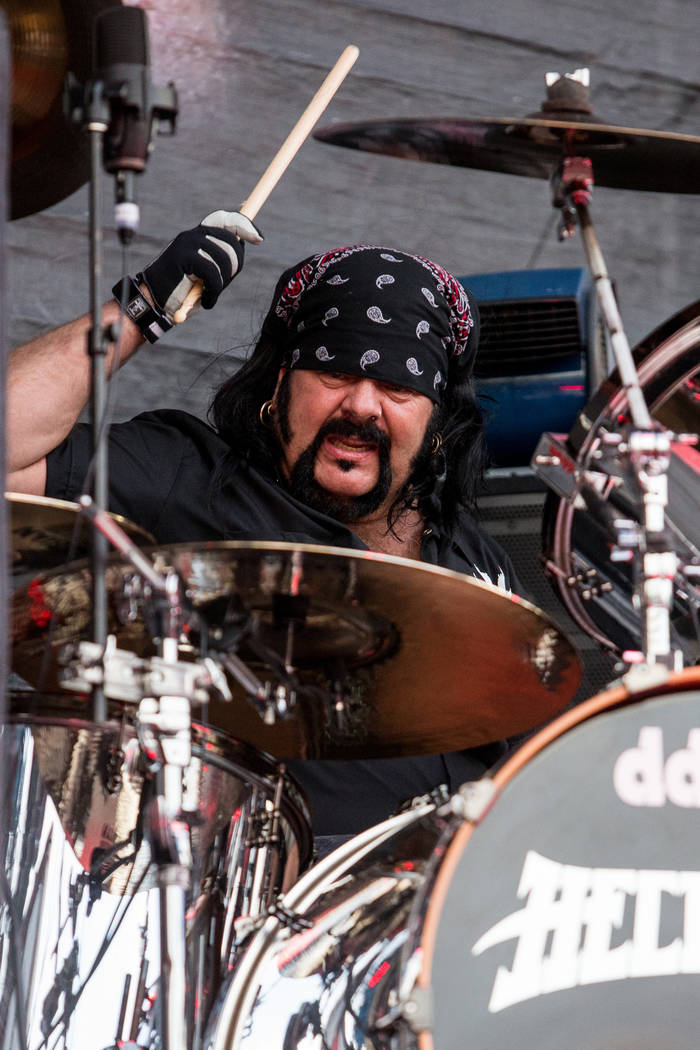 Vinnie Paul of Hellyeah perform during the 2015 Rockstar Energy Drink Mayhem Festival at San Manuel Amphitheater on Saturday, June 27, 2015 in San Bernardino, Calif.(Photo by Paul A. Hebert/Invisi ...