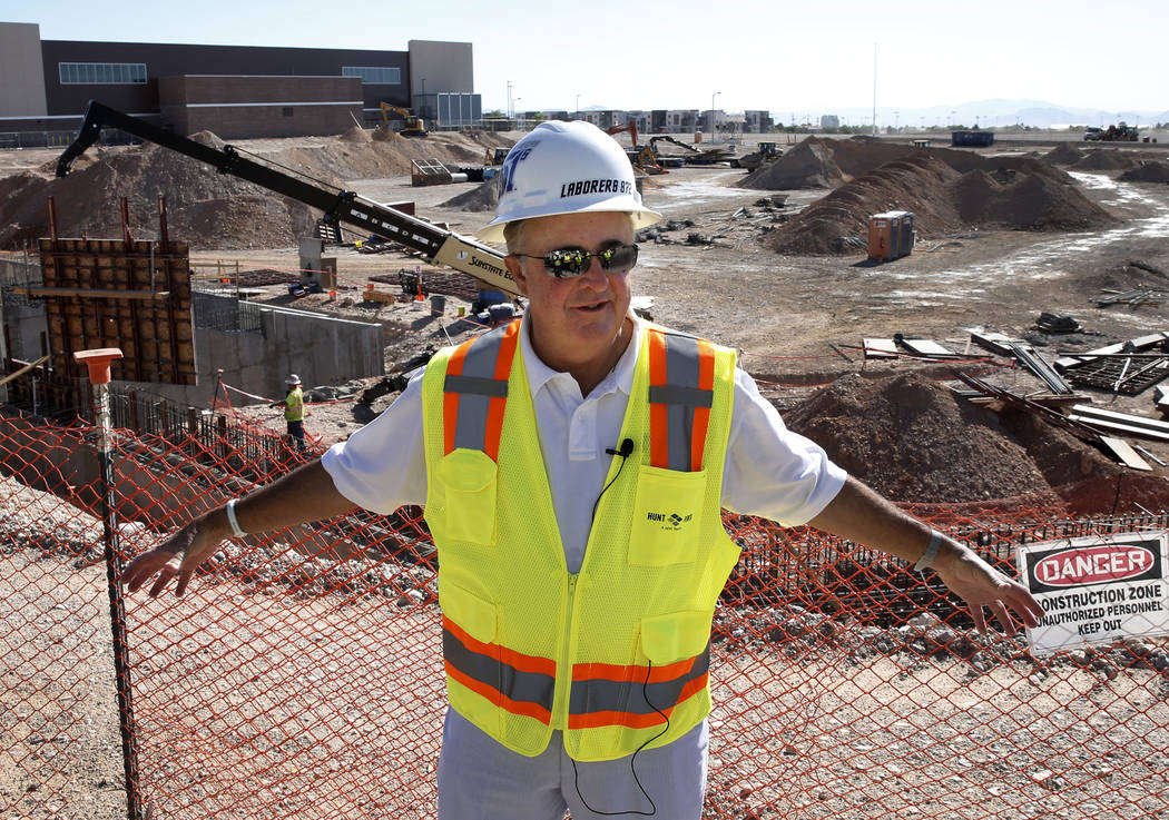 Las Vegas 51s President Don Logan speaks during an interview with the Las Vegas Review-Journal at the site of the new 51s ballpark on Tuesday, June 19, 2018, in Las Vegas. Bizuayehu Tesfaye/Las Ve ...