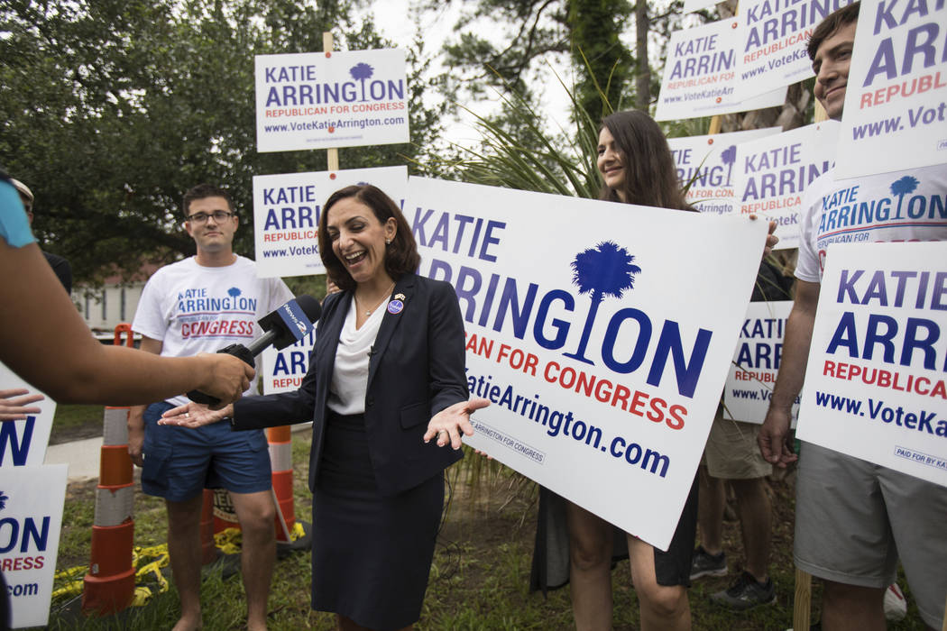 South Carolina Rep. Katie Arrington was seriously injured in a crash that killed another motorist on Friday. Arrington, who is running for the first district of South Carolina, is shown as she cam ...