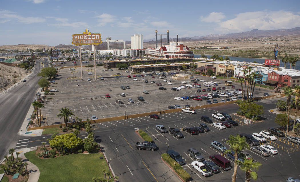 A view of the casinos taken Thursday, July 28, 2016, from the top of the Golden Nugget parking garage in Laughlin, Nev. Jeff Scheid/Las Vegas Review-Journal Follow @jeffscheid
