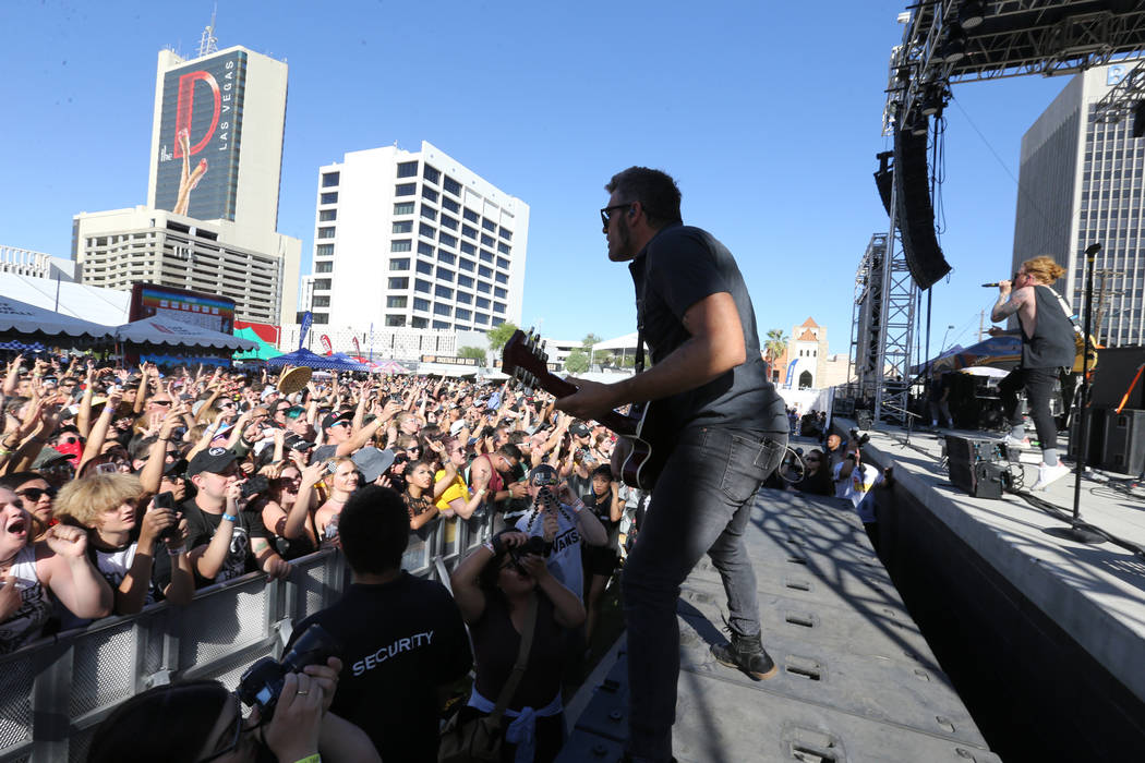 We the Kings performs during Warped Tour at Downtown Las Vegas Events Center on Friday, June 29, 2018. K.M. Cannon Las Vegas Review-Journal @KMCannonPhoto