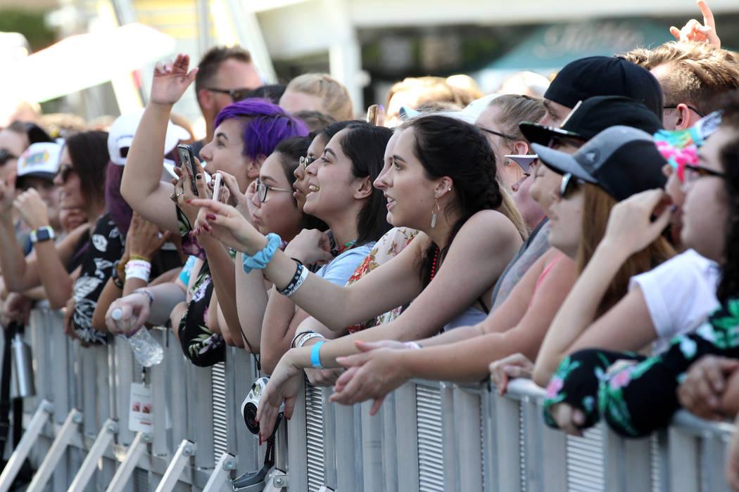 Fans watch a performance during Warped Tour at Downtown Las Vegas Events Center on Friday, June 29, 2018. K.M. Cannon Las Vegas Review-Journal @KMCannonPhoto