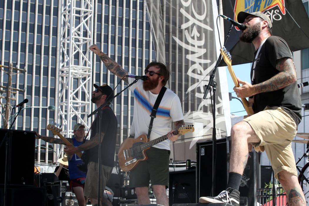 Four Year Strong performs during Warped Tour at Downtown Las Vegas Events Center on Friday, June 29, 2018. K.M. Cannon Las Vegas Review-Journal @KMCannonPhoto