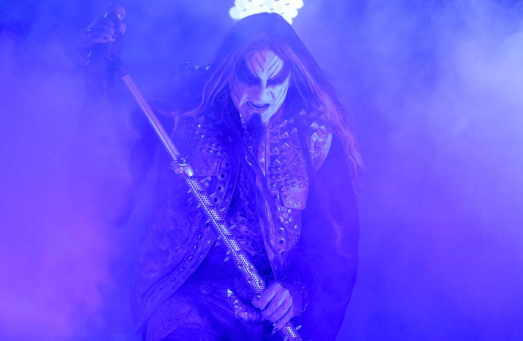 Dimmu Borgir frontman Shagrath performs on day three of Psycho Las Vegas at the Hard Rock Hotel in Las Vegas on Monday, Aug. 20, 2018. Richard Brian Las Vegas Review-Journal @vegasphotograph