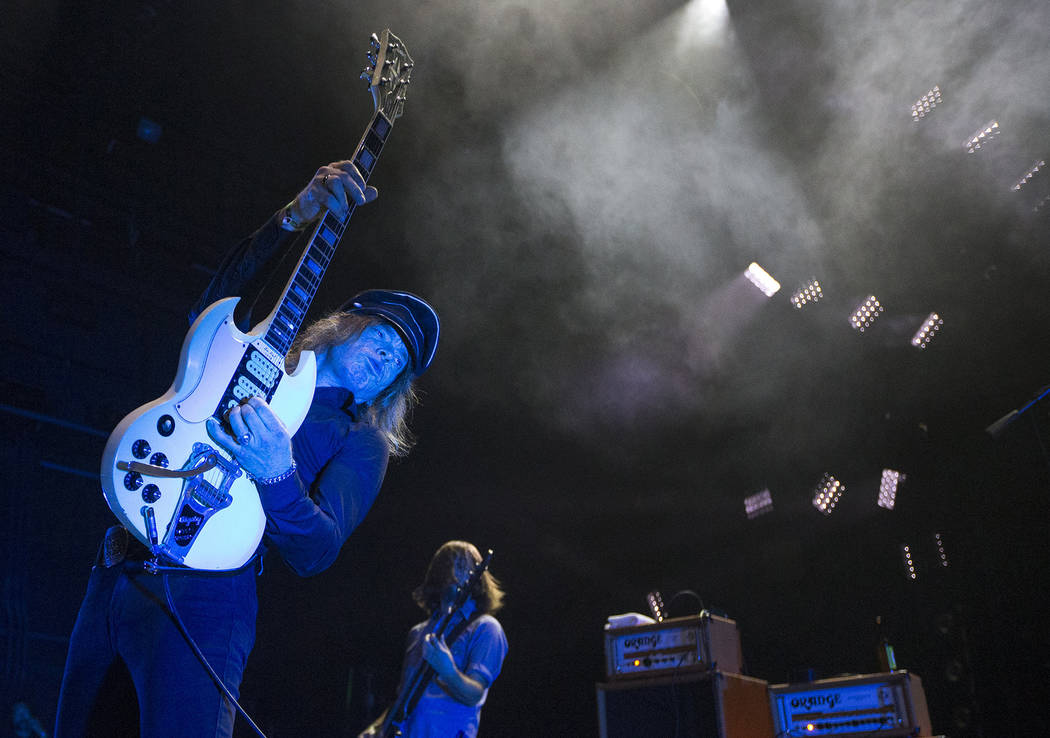 Nicke Andersson of The Hellacopters performs on day three of Psycho Las Vegas at the Hard Rock Hotel in Las Vegas on Sunday, Aug. 19, 2018. Richard Brian Las Vegas Review-Journal @vegasphotograph