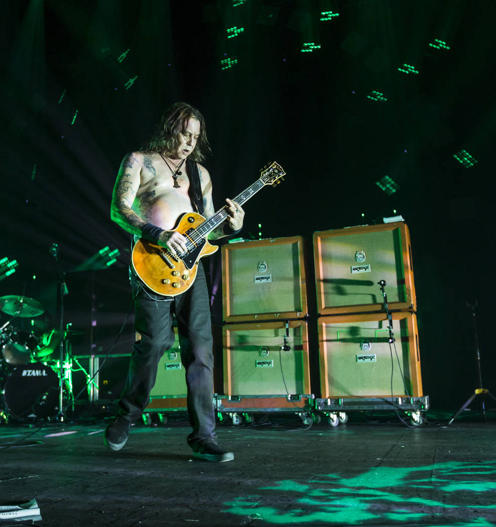 Matt Pike of High on Fire performs at The Joint during the Psycho Las Vegas music festival at the Hard Rock Hotel in Las Vegas on Friday, Aug. 17, 2018. Chase Stevens Las Vegas Review-Journal @css ...