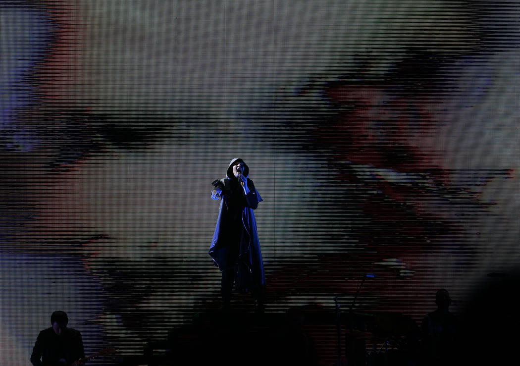 The Smashing Pumpkins perform as part of their Shiny And Oh So Bright Tour at the T-Mobile Arena in Las Vegas, Sunday, Sept. 2, 2018. Rachel Aston Las Vegas Review-Journal @rookie__rae