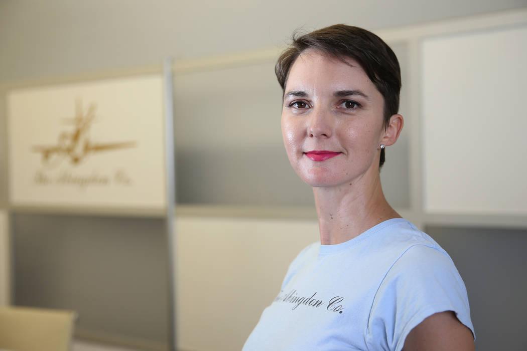 Abingdon Mullin, founder of The Abingdon Co., at her Las Vegas office, Thursday, Oct. 25, 2018. Erik Verduzco Las Vegas Review-Journal @Erik_Verduzco