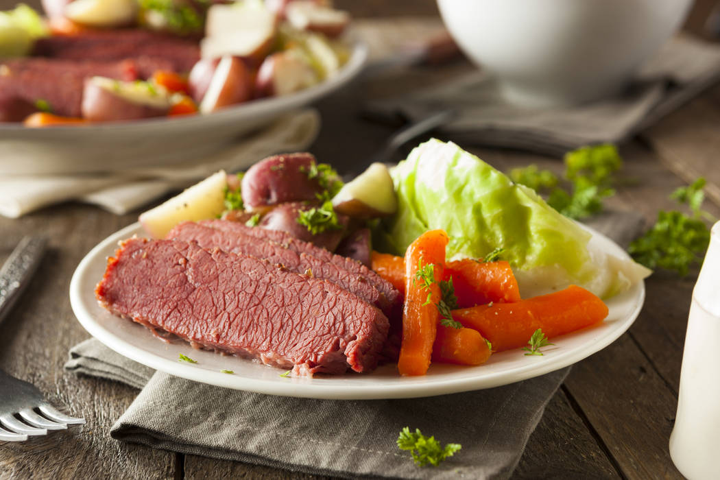 Getty Images Homemade Corned Beef and Cabbage with Carrots and Potatoes