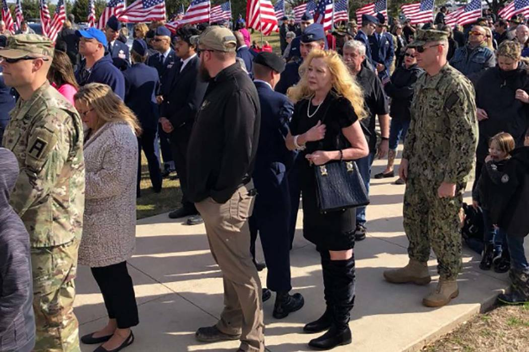 Despite not having any known family, thousands attended Monday's funeral for Vietnam veteran Joseph Walker in Killeen, Texas. (Texas General Land Office Twitter) ‏