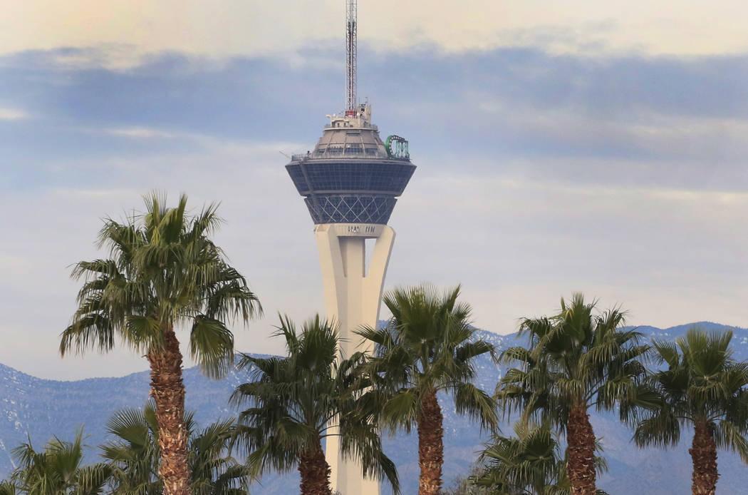 Clouds linger over the Las Vegas Valley on Tuesday, Jan, 29, 2019. (Bizuayehu Tesfaye/Las Vegas Review-Journal) @bizutesfaye