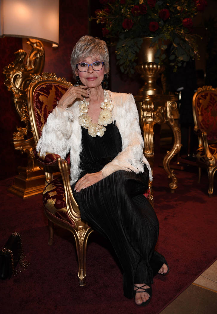 Rita Moreno is the Nevada Ballet Theater's 2019 Woman of the Year. She was honored at the ballet's 35th annual black and white ball on Jan. 26, 2019, in Las Vegas. (Denise Truscello/WireImage)