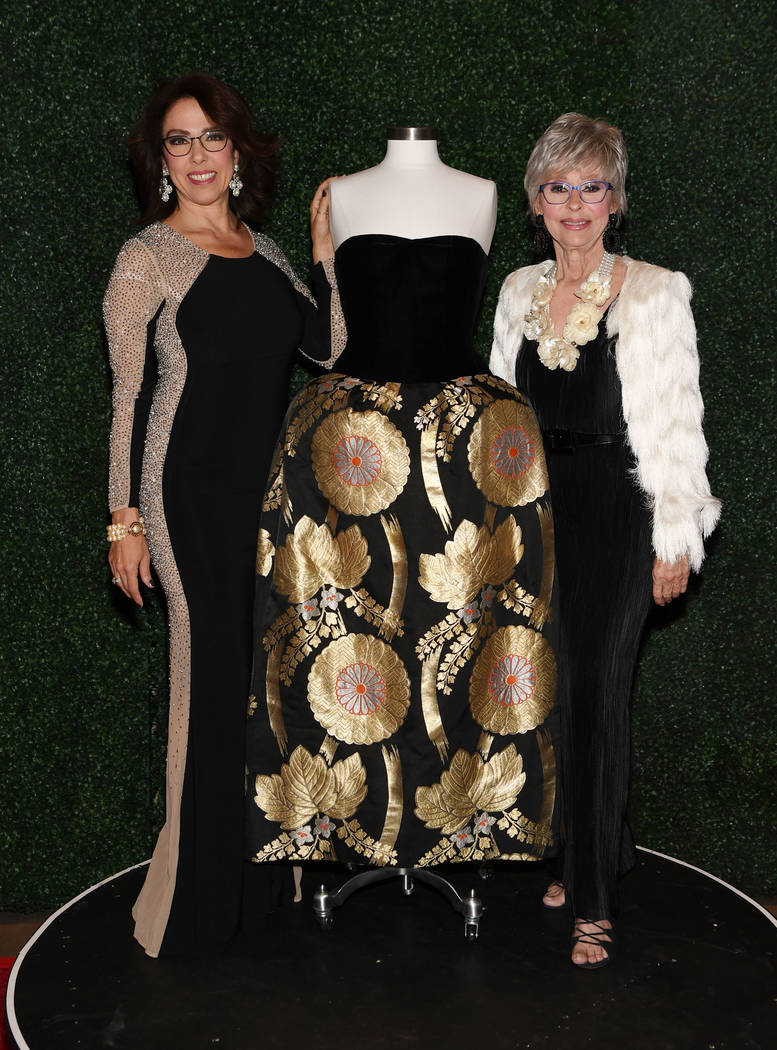 Rita Moreno, right, and her daughter Fernanda Luisa Gordon attend Nevada Ballet Theater's 35th Annual Black And White Ball at Aria on Jan. 26, 2019, in Las Vegas. (Denise Truscello/WireImage)