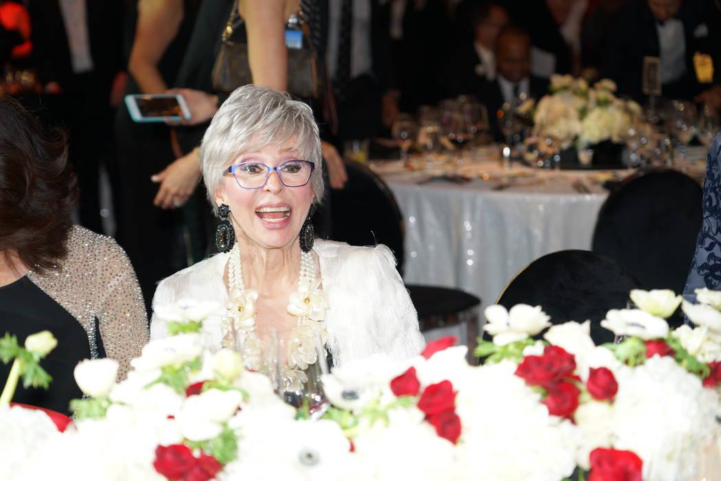 Entertainment legend Rita Moreno received the Woman of the Year award at the annual Nevada Ballet Theatre Black & White Gala at Aria in Las Vegas on Saturday, Jan. 26, 2019. (Cashman Photo)
