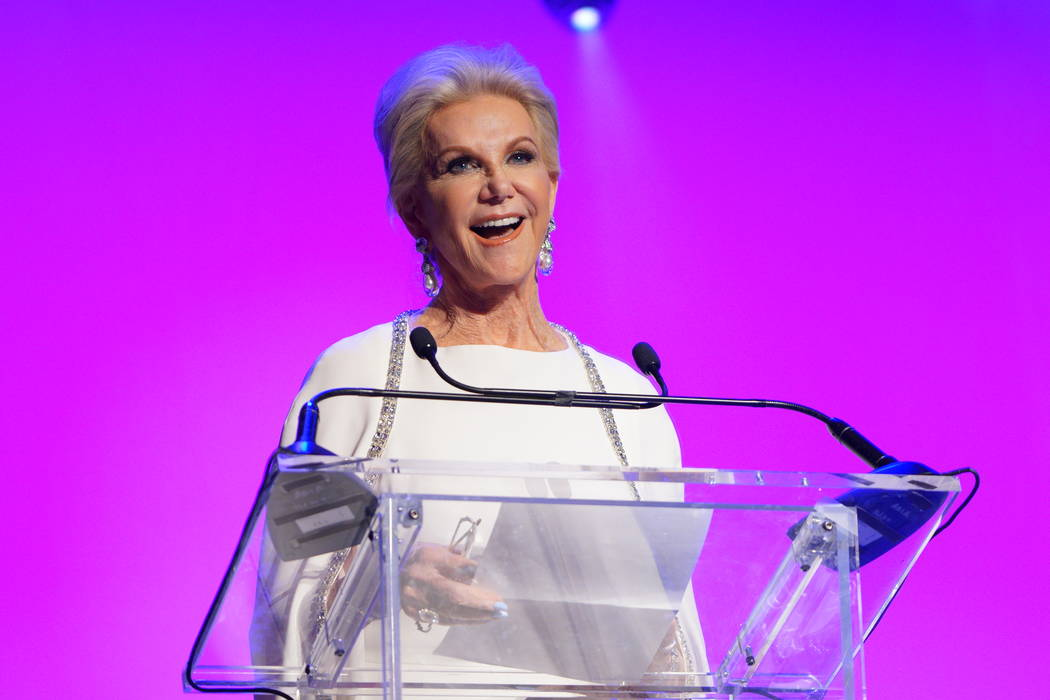 Elaine Wyann at the annual annual Nevada Ballet Theatre Black & White Gala at Aria in Las Vegas on Saturday, Jan. 26, 2019. Wynn was the first honoree, in 1985. (Cashman Photo)