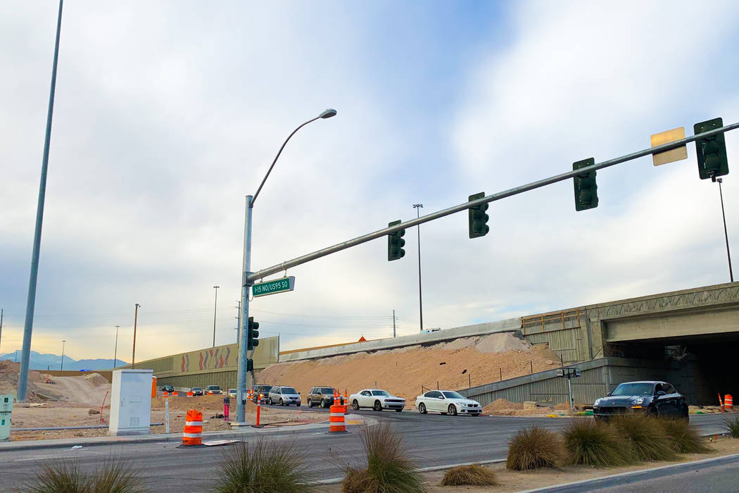 The U.S. Highway 95 southbound offramp to Martin Luther King Boulevard will shut to traffic Sunday at 10 p.m. until late April, according to the Nevada Department of Transportation. (Mick Akers/La ...