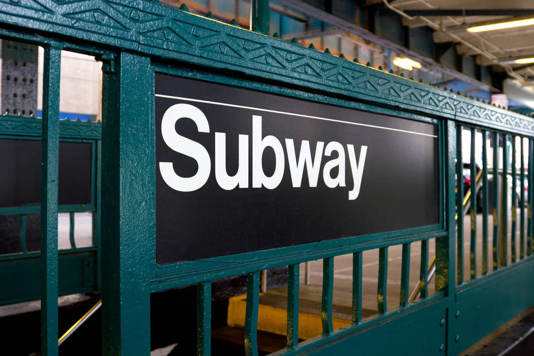 Subway station sign in Manhattan, New York. (Getty Images)