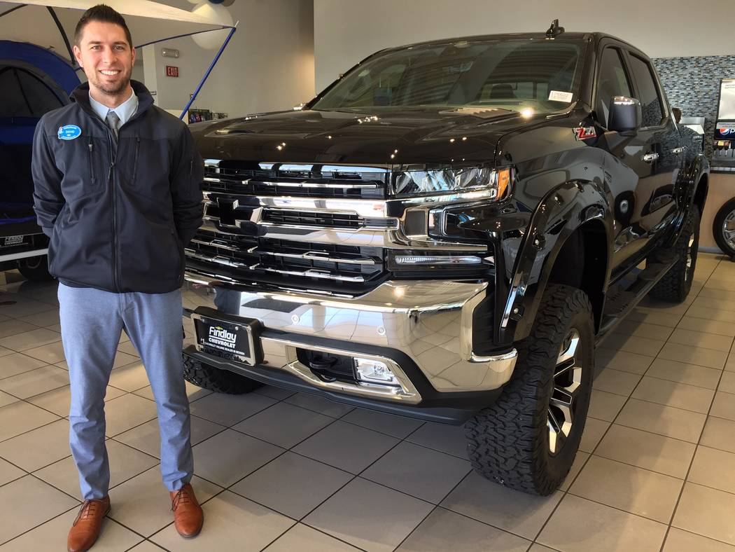 Findlay Chevrolet sales consultant David Rothrock is seen with the popular 2019 Chevrolet Silverado 1500 Z71 Southern Comfort model at the dealership situated at 6800 S. Torrey Pines Drive. (Findlay)