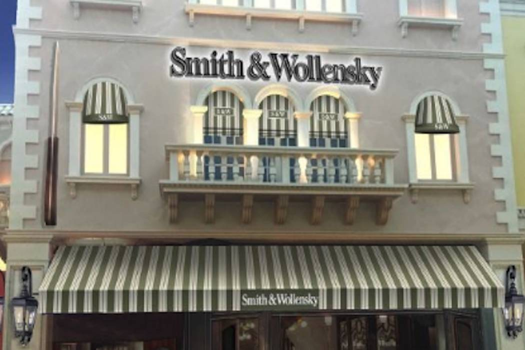 The exterior of Smith & Wollensky's new Las Vegas Strip restaurant at The Venetian is expected ...