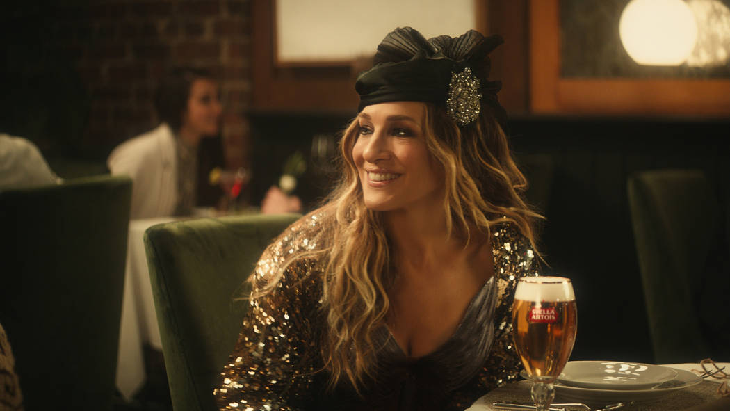 Sarah Jessica Parker in a Super Bowl ad for Stella Artois. (Stella Artois via AP)