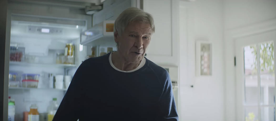 Actor Harrison Ford was featured in an Amazon ad for the company's 2019 Super Bowl NFL football spot. (Amazon via AP)