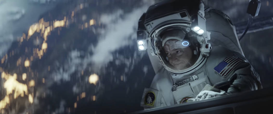 Astronaut Scott Kelly was featured in an Amazon ad for the company's 2019 Super Bowl NFL football spot. (Amazon via AP)