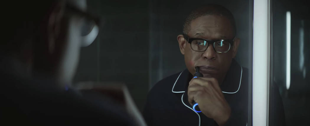 A scene from Amazon's 2019 Super Bowl NFL football spot featuring Forest Whitaker. (Amazon via AP)