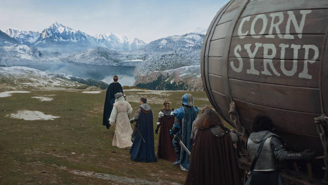 A scene from Anheuser-Busch's Bud Light 2019 Super Bowl NFL football spot. (Anheuser-Busch via AP)